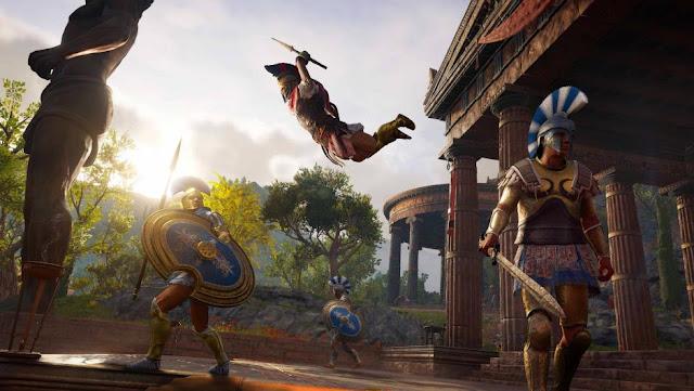 شاهد بالفيديو نظام القتال في لعبة Assassin's Creed: Odyssey و مميزاته الجديدة …