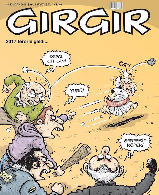Gırgır Dergisi | 4-10 Ocak 2017 Kapak Karikatürü