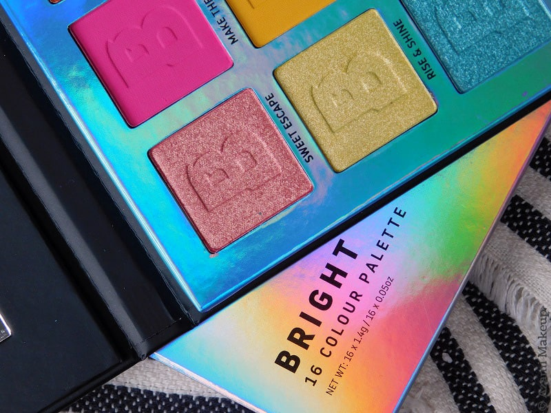 BeautyBay | Everything You Need EYN Brights 16-Colour Eyeshadow Palette Review & Swatches - Avis Fards à Paupières - Shimmer - Matte - Fiery - Berry - Nude