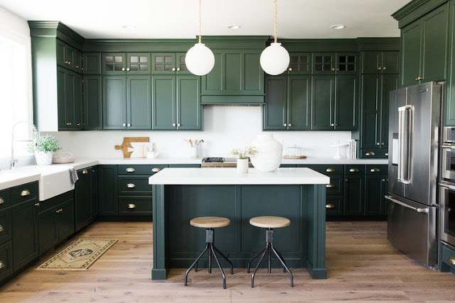 exciting green kitchens white cabinets | 29 Design Studio