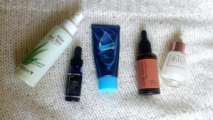 My Winter Skincare Routine for Combination Dehydrated Skin, josie maran pure argan milk, mizon ultra suboon cream, josie maran argan oil, skinfood aloe sun mist, peter thomas roth retinol fusion pm review