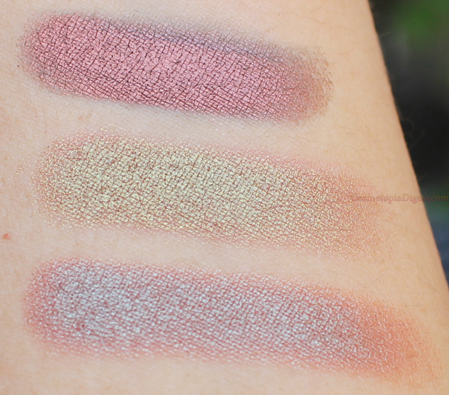 Makeup Geek Duochrome Eyeshadows Swatches: Steampunk, Ritzy, Havoc