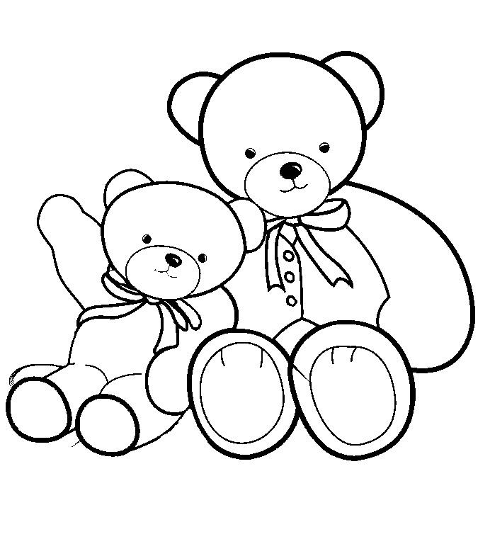 Tranh tô màu chú gấu đáng yêu, dễ thương cho các bé tập tô 10