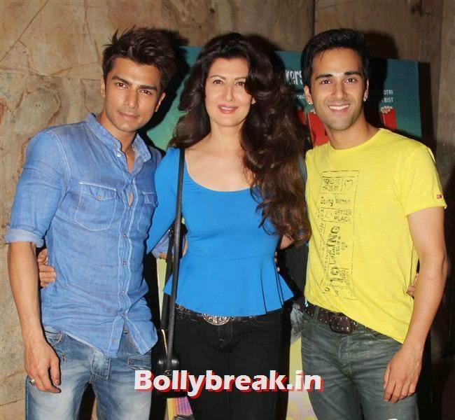 Bilal Amrohi, Sangeeta Bijlani and Pulkit Samrat, Daisy Shah, Sangeeta Bijlani at O Teri Special Screening at Lightbox