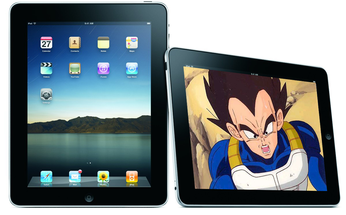 ipad dragon ball vegeta