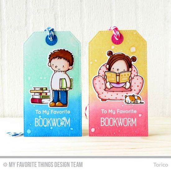 Handmade bookmarks from Torico featuring Birdie Brown Our Story stamp set and Die-namics, Stitched Traditional Tag STAX and Tag Builder Blueprints 6 Die-namics #mftstamps