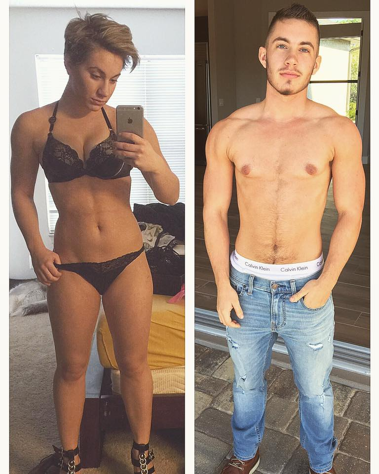 Jovem transexual viraliza ao mostrar antes e depois: 'Finalmente sou eu'