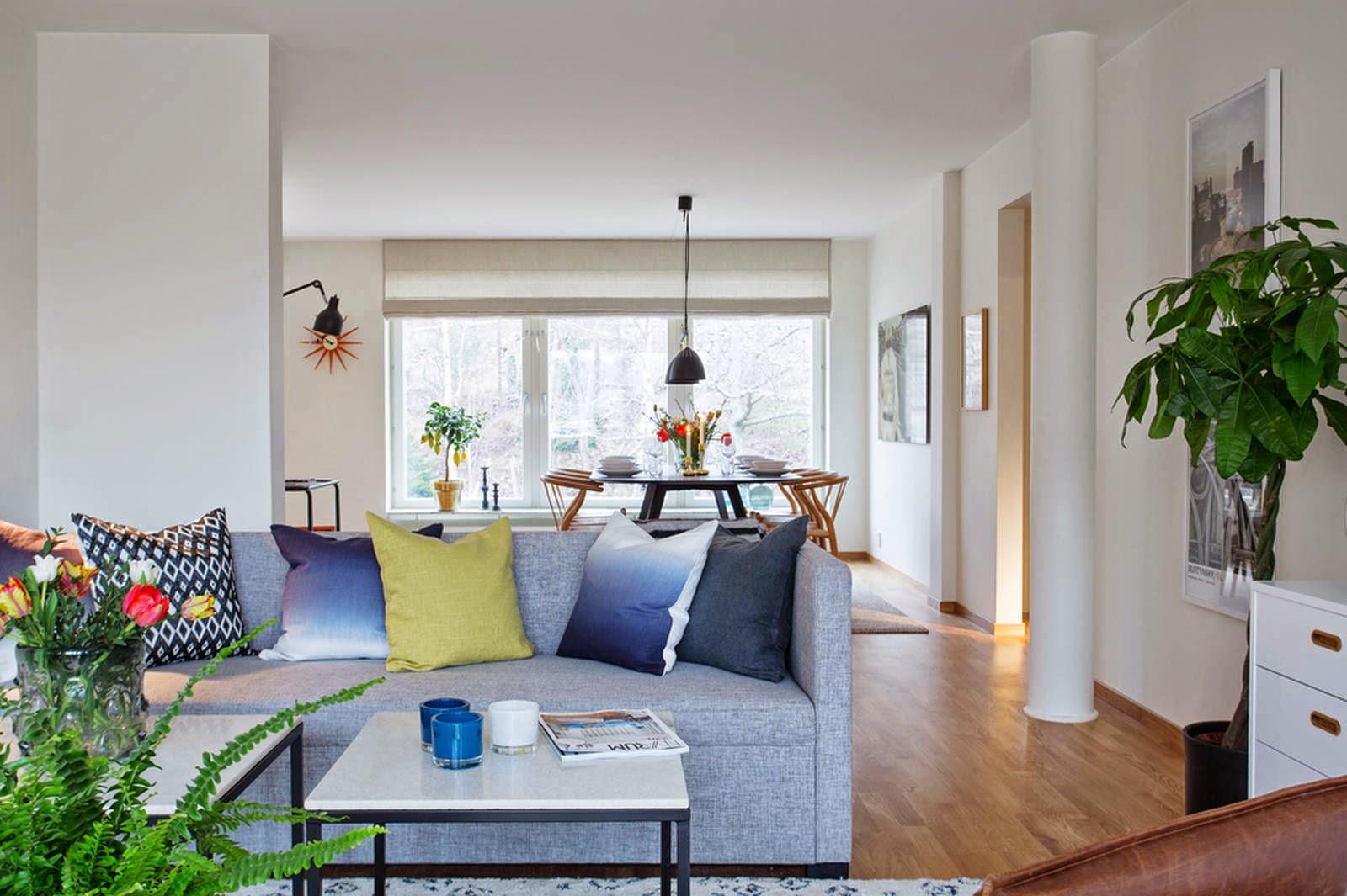 El blog de demarques un elegante piso de estilo escandinavo - Piso estilo nordico ...