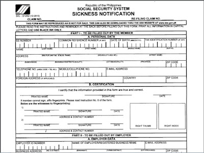How to Apply SSS Sickness Benefit or Social Security System