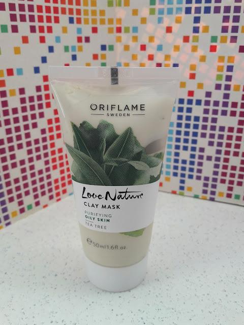Oriflame love nature maseczka z glinką i olejkiem z drzewa herbacianego