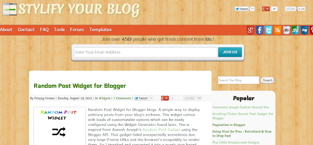 stylify Your blog