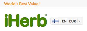 Verkkokaupassa on maakohtainen tunnistus IP-osoitteen perusteella. Verkkokauppa tunnistaa suomalaisen selaajan ja päivittää verkkokaupan tiedot oikein eli FIN ja EUR