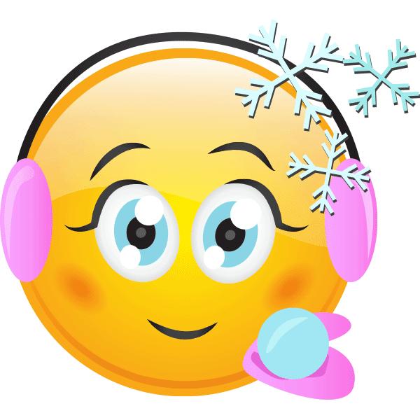Emoticon Smiley Snow