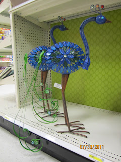 Peacocks, outdoor decor, Target