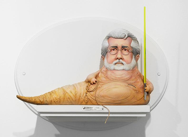 Esculturas satíricas de cineastas emblemáticos por Mike Leavitt