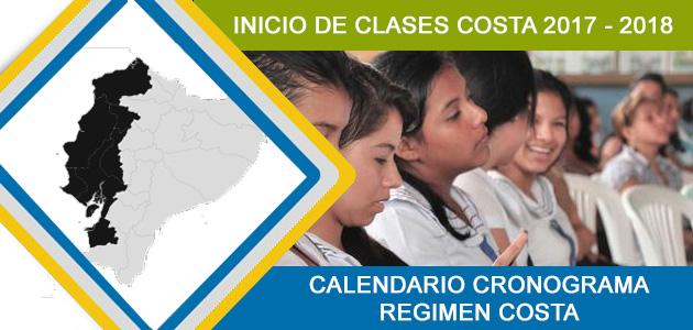 Inicio De Clases Costa 2017 - 2018 Calendario Cronograma Ecuador