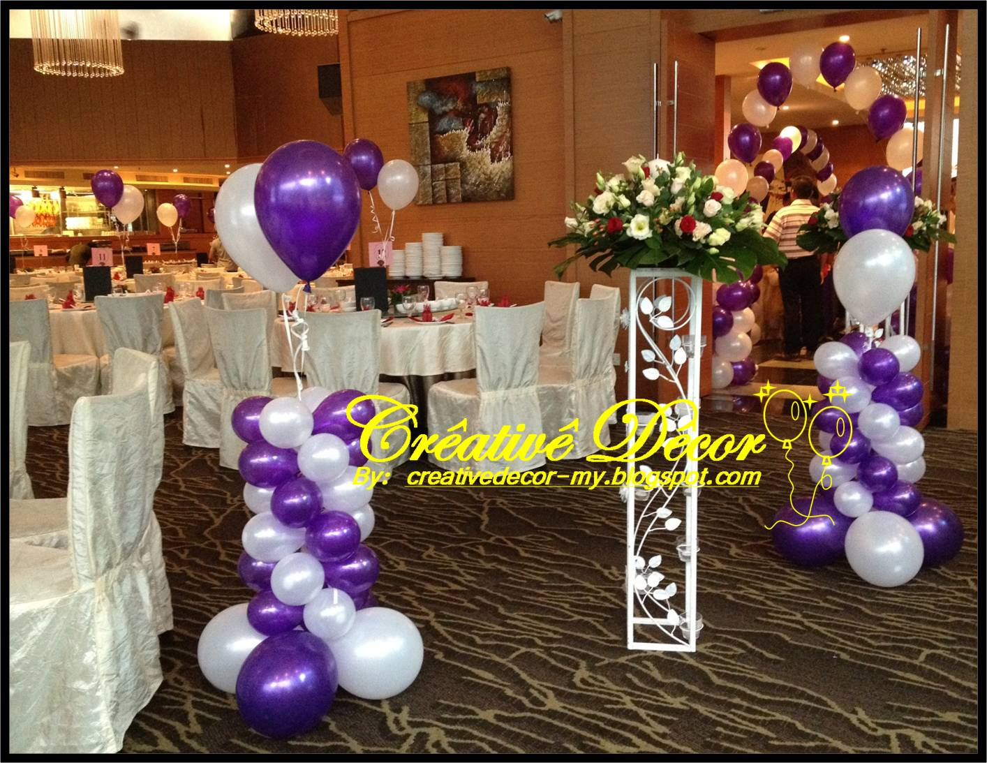 creatived cor by vincent balloon decoration for chinese wedding reception. Black Bedroom Furniture Sets. Home Design Ideas