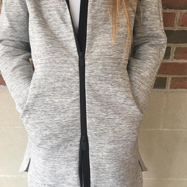 lululemon going-places-hooded-jacket body-con-tight