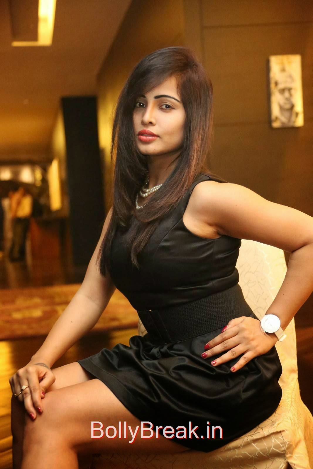 Hashika Dutt images, Hashika Dutt Hot Pics In Black Dress from Player Trailer Launch