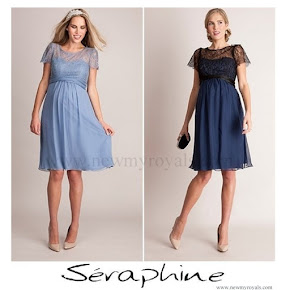 Crown Princess Victoria Style SERAPHINE Maternity Dress