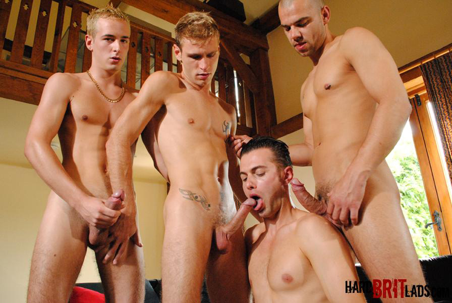 Four Big Cocks Group - Gang Bang