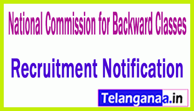 National Commission for Backward Classes NCBC Recruitment Notification