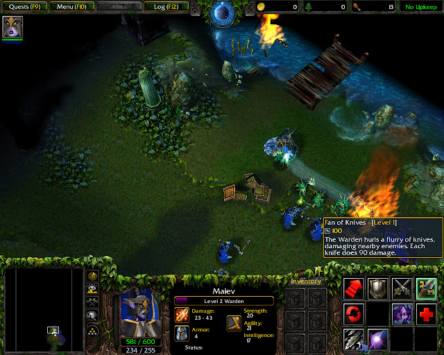 Rise of the Naga Mission 1   Maiev Screenshot   Warcraft 3: The Frozen Throne