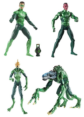 Green Lantern Movie Masters - Hal Jordan, Sinestro, Tomar-Re & Ismot Kol Action Figures