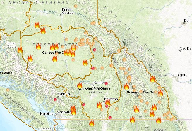 Pincher Creek Voice Encroaching Fire Results In Waterton Lakes