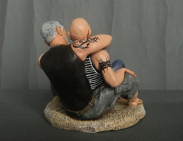 statuina tatuaggi coppia spiaggia regali artigianali personalizzati orme magiche