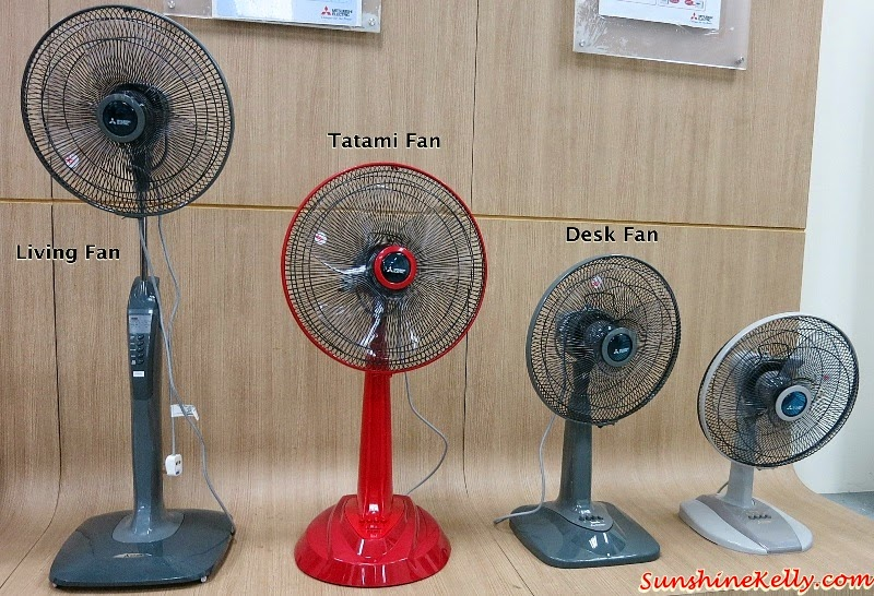 Mitsubishi Electric, Eco Changes, For A Greener Tomorrow, Living Fan, Tatami Fan, Desk Fan