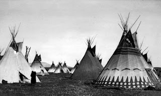 Painted Lodges Piegan Edward S Curtis