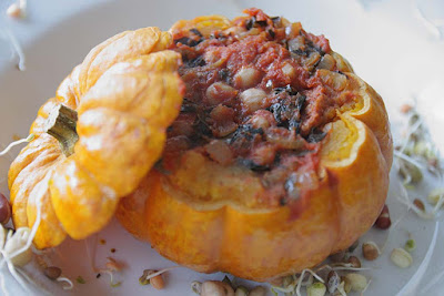 A2K - A Seasonal Veg Table: Mini Pumpkins Stuffed with vegan Chorizo ...