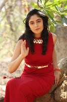 Telugu Actress Zahida Sam Latest Pos in Red Gown at RF Films New Movie Opening  0361.JPG