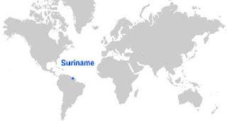 Gambar Peta letak Suriname