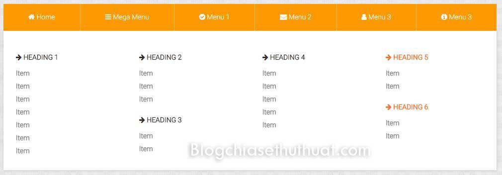 Hướng dẫn tạo mega menu cho blogspot hoàn toàn bằng CSS3
