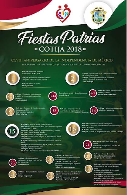 programa fiestas patrias cotija 2018