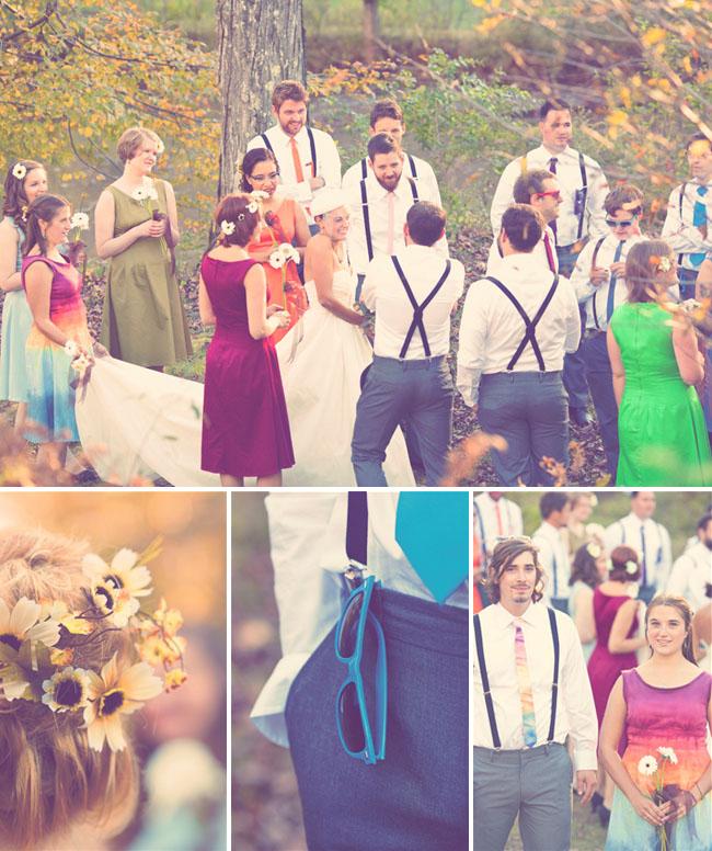 mariage boheme arc en ciel ceremonie
