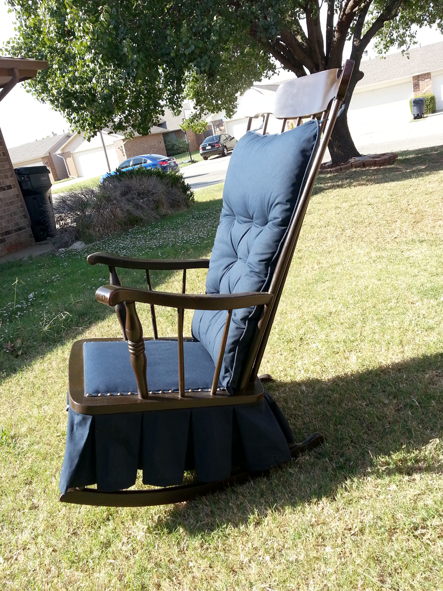 Antique Platform Glider Rocking Chair | OKOklahoma City Craigslist Garage Sales