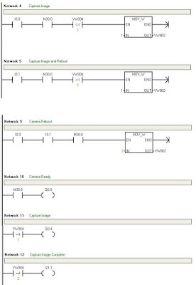 PLC Ladder Programming for Automatic Capture Image