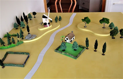 A Vintage War Games Table
