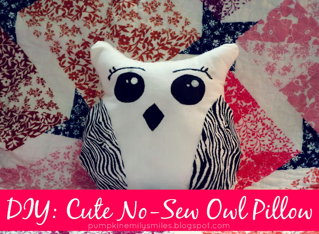 DIY: Cute No-Sew Owl Pillow