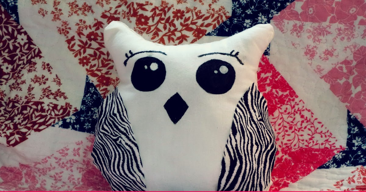 Cute Pillow Ideas To Sew : DIY: Cute No-Sew Owl Pillow Pumpkin Emily Smiles