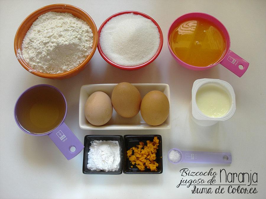 Bizcocho jugoso Naranja (Ingredientes)