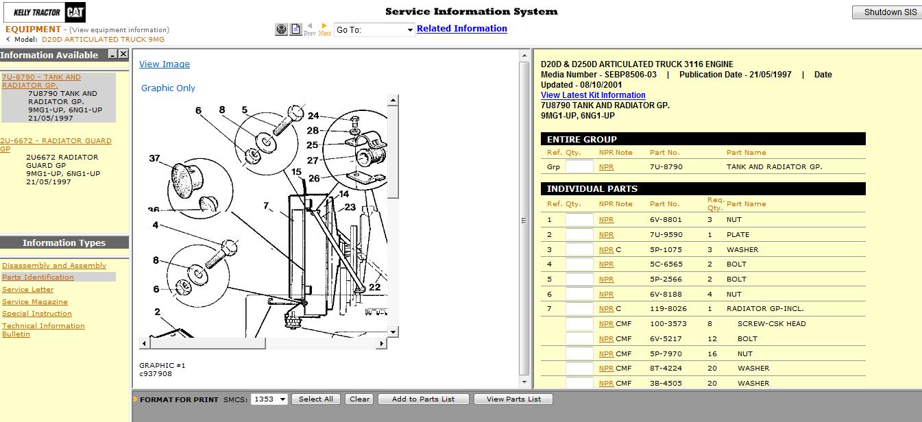 medium resolution of caterpillar sis stw et 2011a spare parts catalog caterpillar parts book workshop service manual cat repair manual electrical wiring diagram