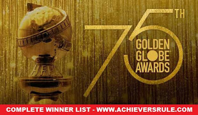 75th Golden Globe Award 2018: Complete Winner List