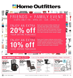 Home Outfitters flyer April 20 - 26, 2018