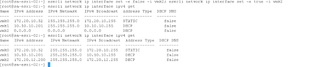 Renew the IP of VMkernel port if assigned from DHCP.