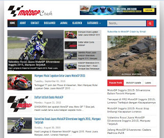 MotoGP Crash - Sport Blogger Template