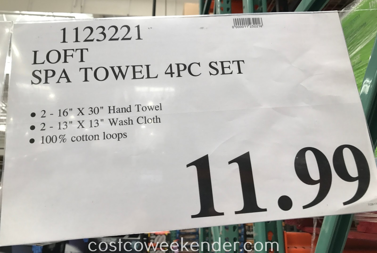 Deal for the Loft Spa Towel 4 piece Set at Costco